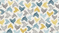 Makower Fabric Chickens cream 2160